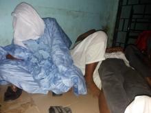 صورة الموقوفين داخل أحد مخافر الدرك السينغالي